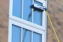 Cleaning a multi-paned uPVC window